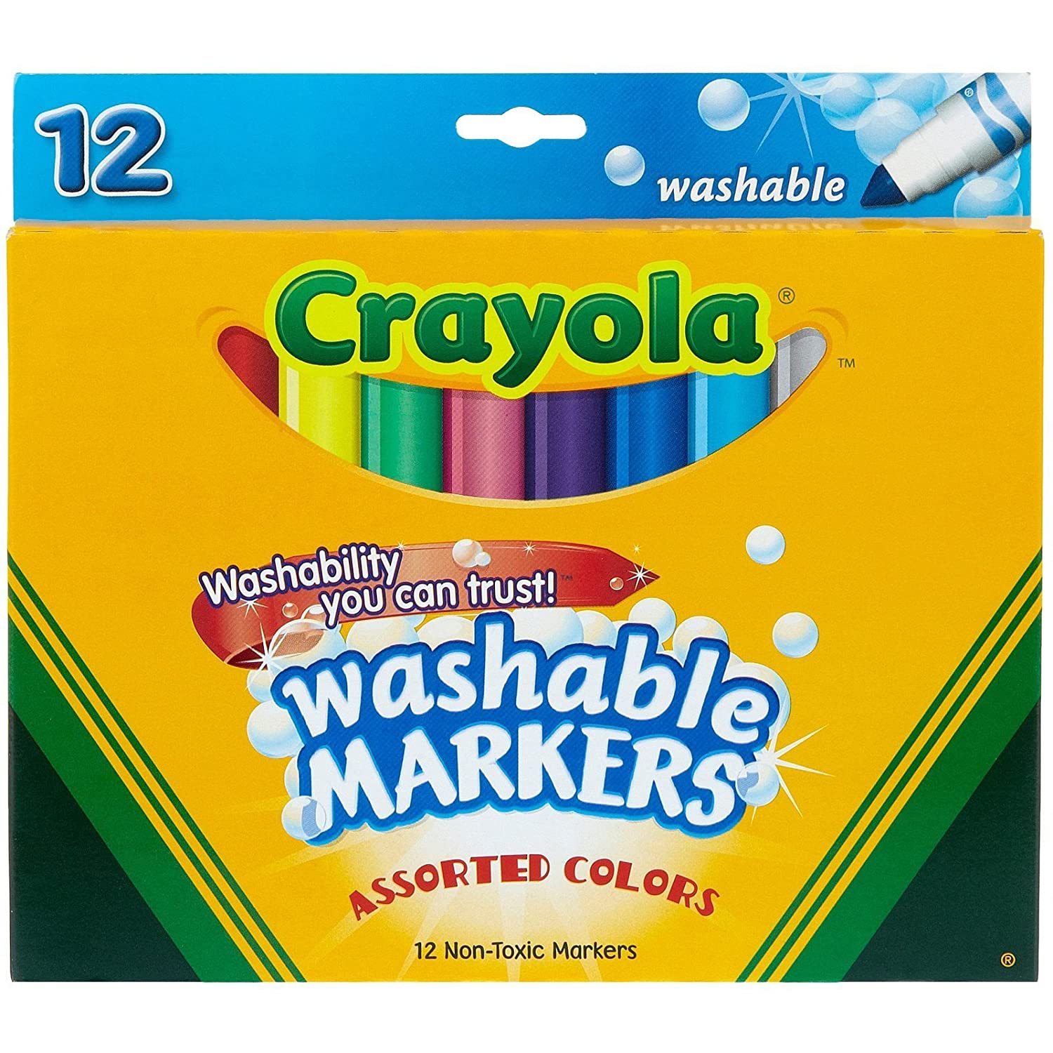 amazon com crayola 12 ct washable markers toys games