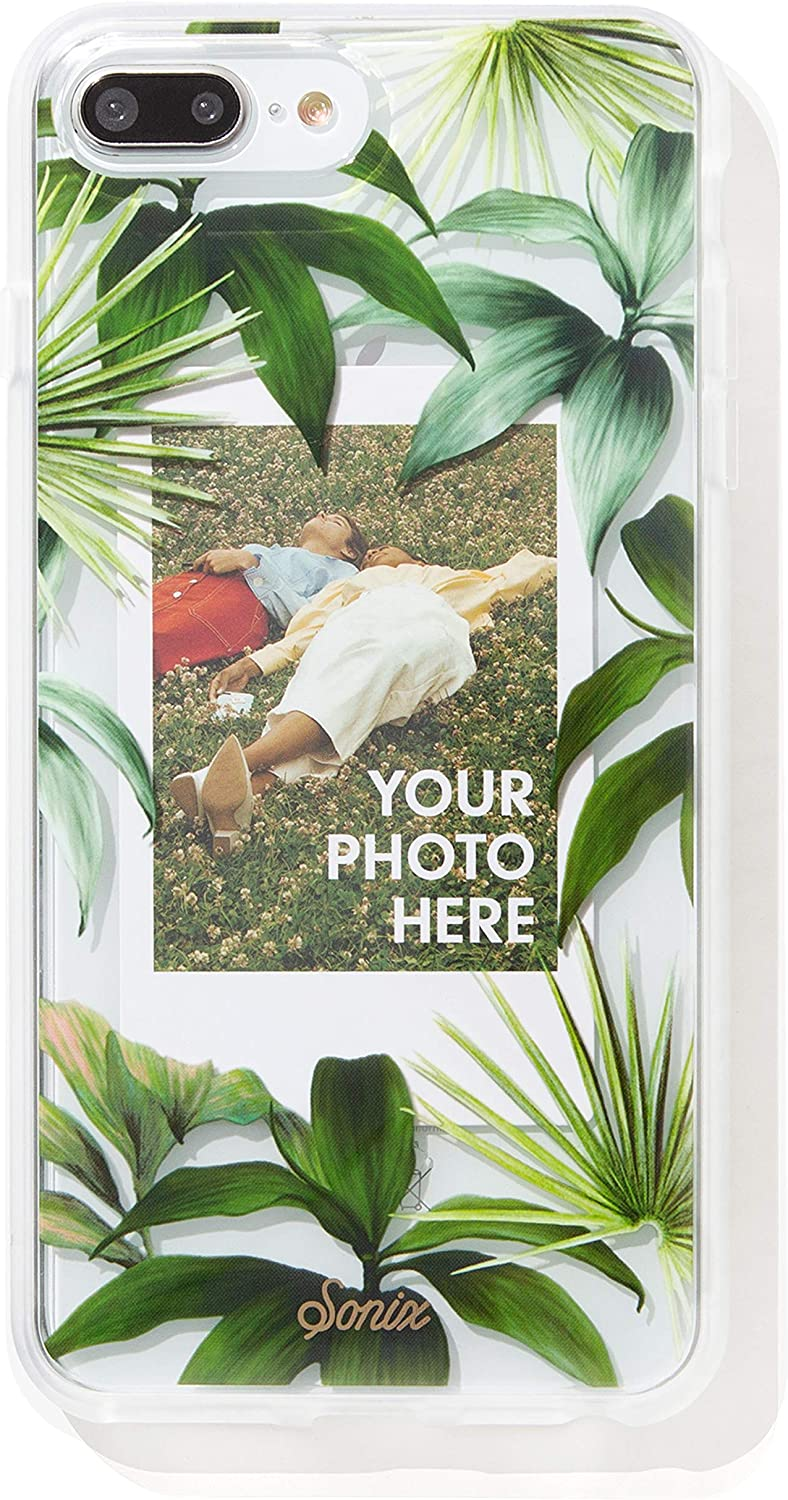 Sonix Tasmania Photo Frame Case (Palm Leaves) Cell Phone Case [Military Drop Test Certified] Protective Clear Polaroid Picture Case Series for Apple iPhone 6 Plus, iPhone 7 Plus, iPhone 8 Plus