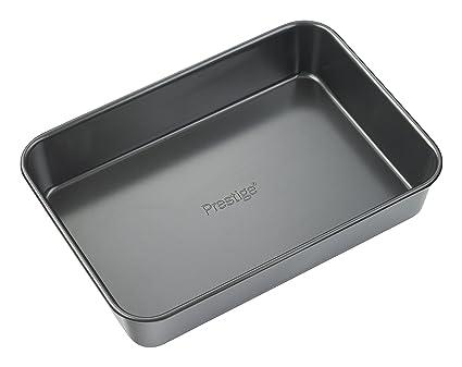 Prestige - Fuente para horno (acero inoxidable, tamaño grande), color negro
