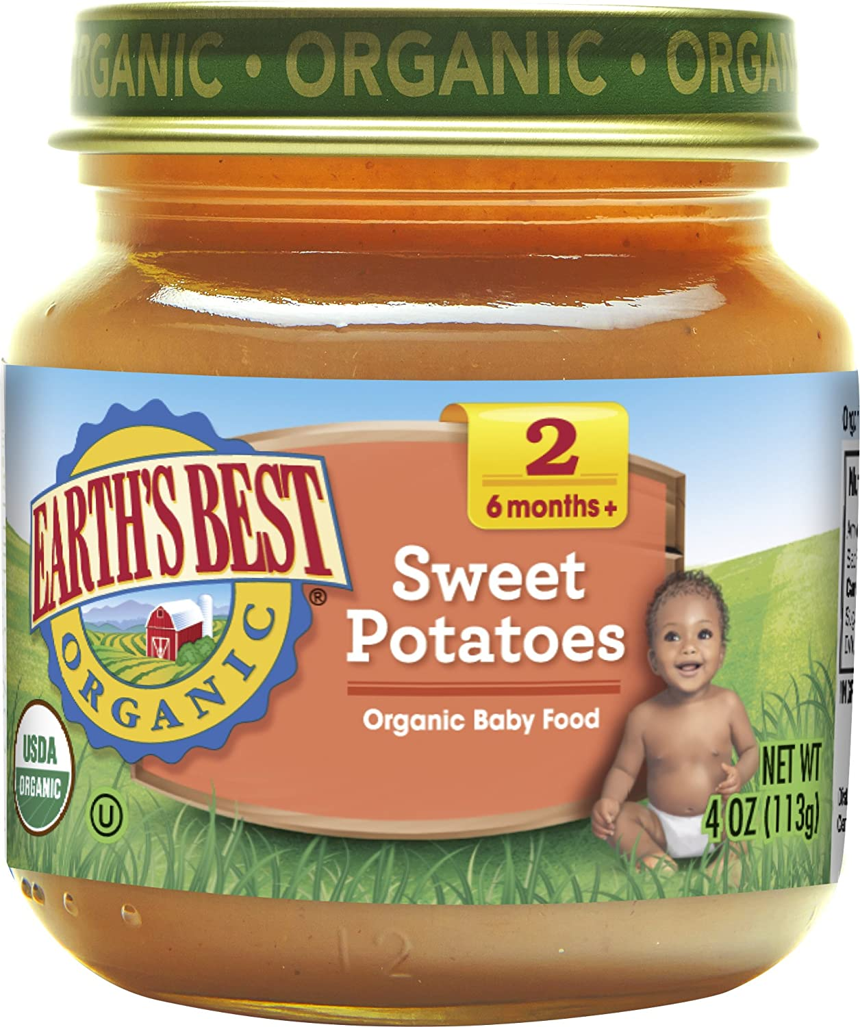 Earth's Best Organic Stage 2 Baby Food, Dinner Favorites Variety Pack, 4 oz. Jar (12 Count) Hain Group (Earth' s Best)