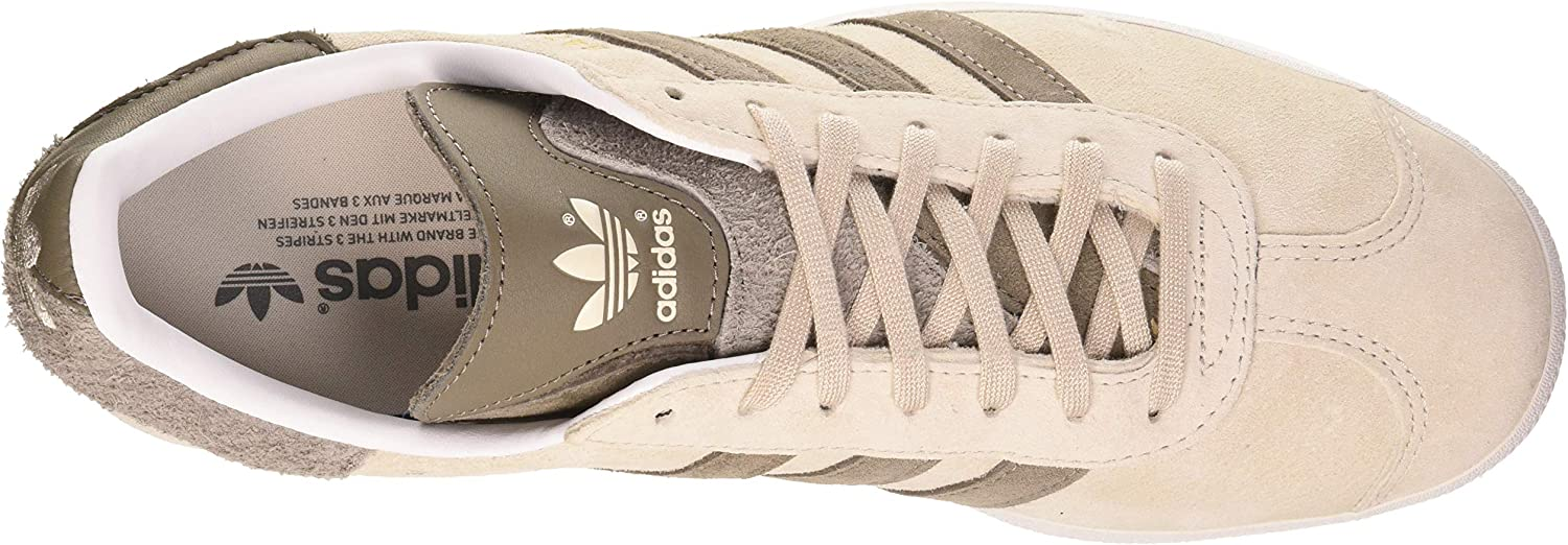 Adidas Herren Gazelle Sneaker Crystal White Clear Brown Simple Brown