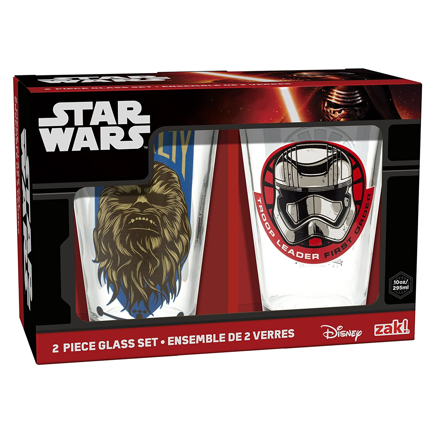 Zak! Designs Juice Glasses Featuring Graphics from Star Wars The Force Awakens, 10 oz, Set of 2 Zak Designs SWRH-R190