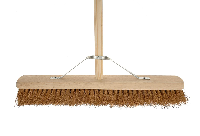 Cleenol 14869TWH Large Wooden Broom with Handle