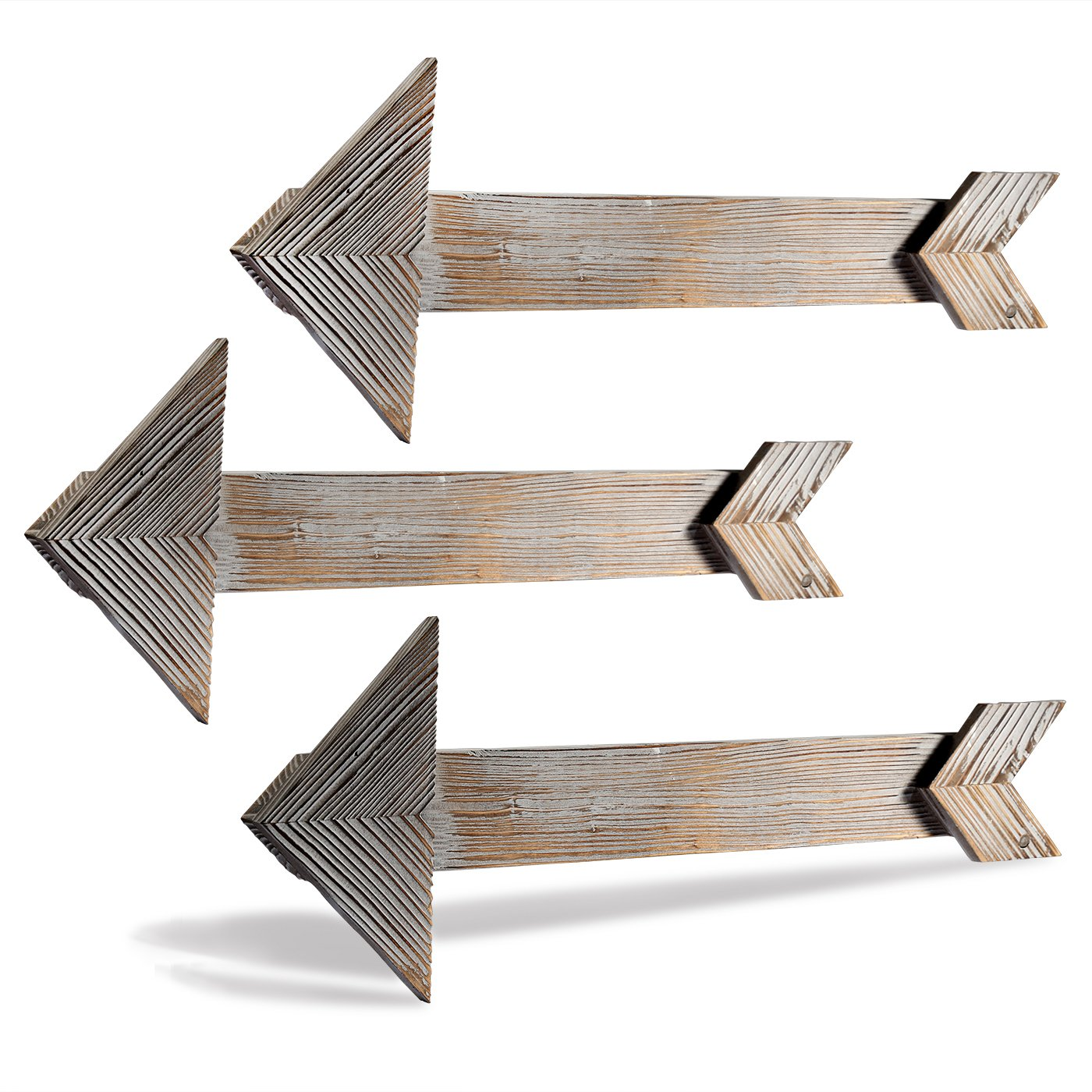 Cade Rustic Wall Decor Arrow Barnwood Decorative Arrows Barn Wood Decorative Signs-Decoration for Home or Outdoor (3, 5.9*17.5 inches) cade-one DS0041