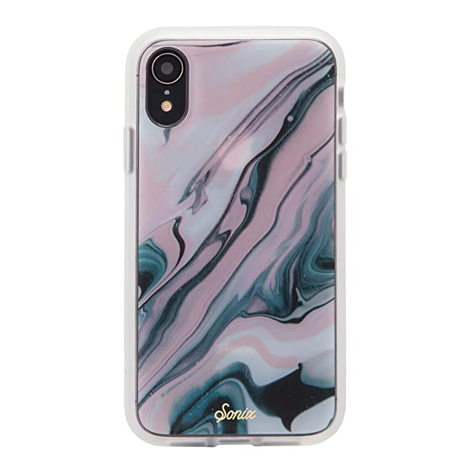 half off 1aa18 94cd0 iPhone XR, Sonix Blush Quartz Cell Phone Case [Military Drop Test  Certified] Luxe Marble Series for Apple (6.1