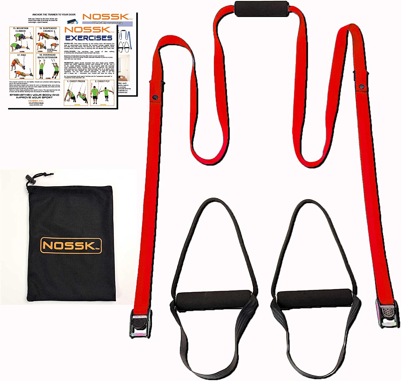 NOSSK Inicio Suspensión Bodyweight Fitness Trainer (Rojo)