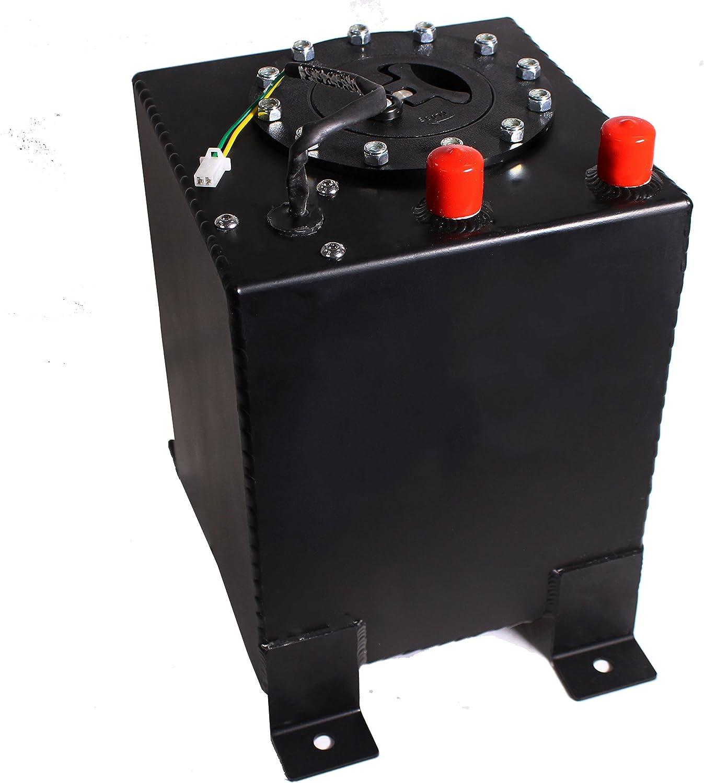 Aluminum Racing Drift Fuel Cell Tank 9.5 Liter Level Sender 2.5 Gallon Black