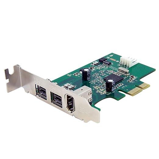 2 opinioni per Startech.Com Scheda Adattatore PCI Express FireWire 2b 1a 1394 a Basso Profilo,