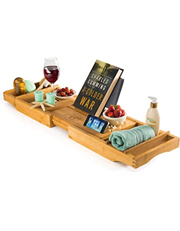 Home Improvement Original Bamboo Bathroom Tray Telescoping Bathtub Desk For Phone Laptop Notebook Wine Glasses Candles Bathroom Shelf