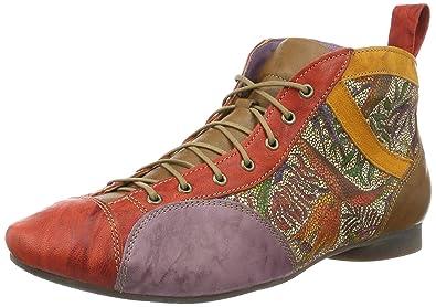 Think Damen Guad Desert Boots, Rot (Chilli/Kombi 76), 38.5 EU