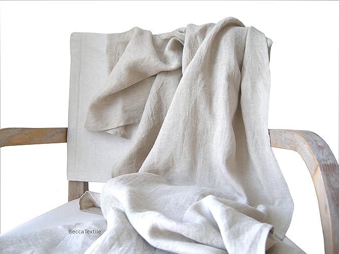 Manta decorativa de lino, Plaid ligero , manta para sofá y ...