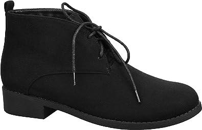 MaxMuxun Women Shoes Faux Suede Lace-up