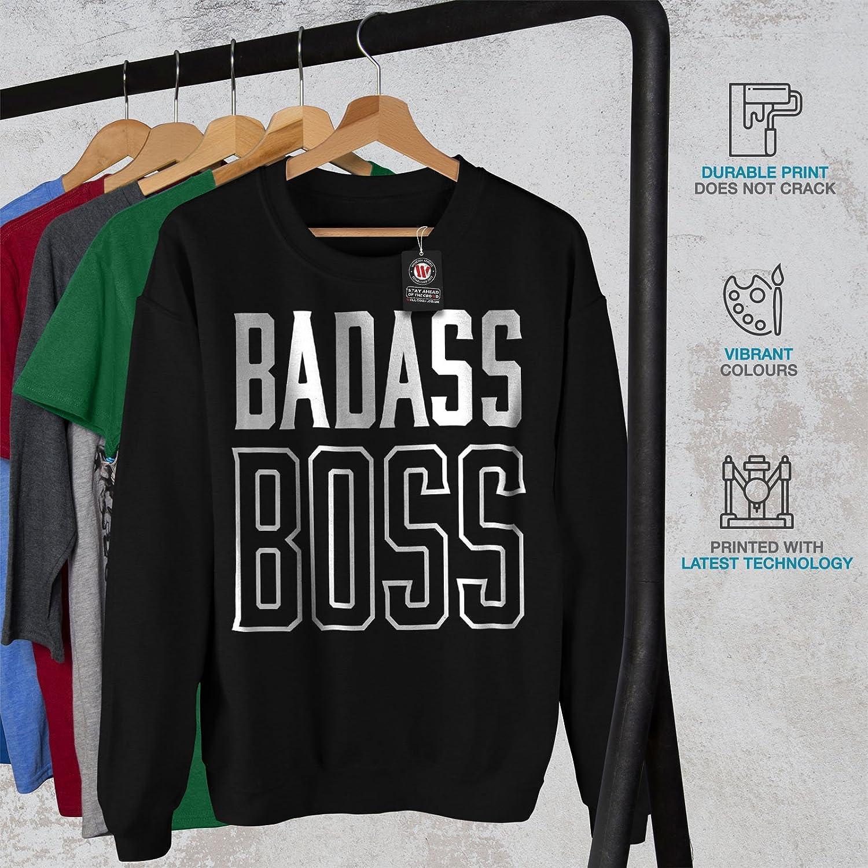 wellcoda Best Boss Mens Sweatshirt Slogan Casual Jumper
