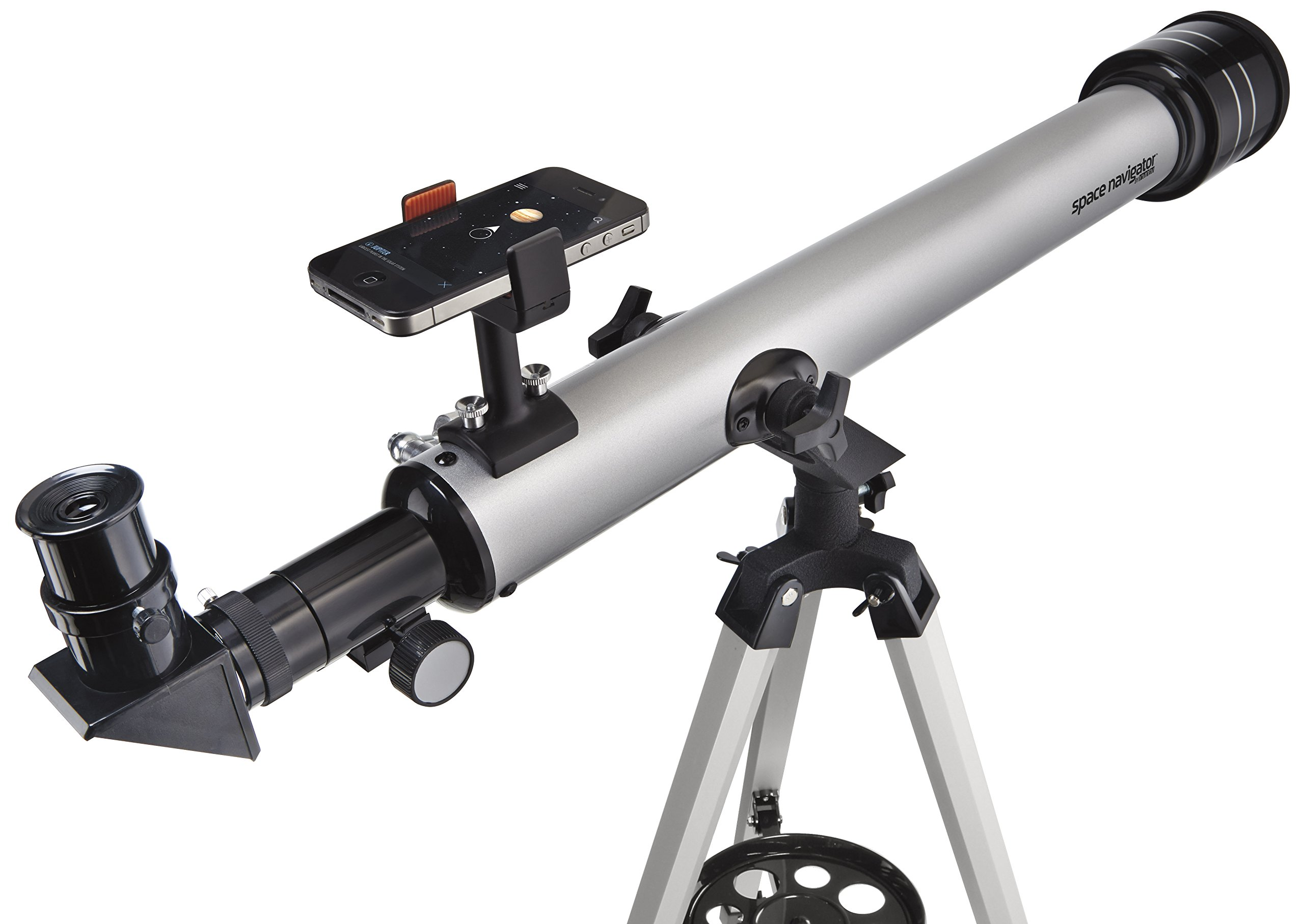 Space Navigator App-Enhanced Star Finding Deluxe Telescope - Powered by SkyView, Silver/Black