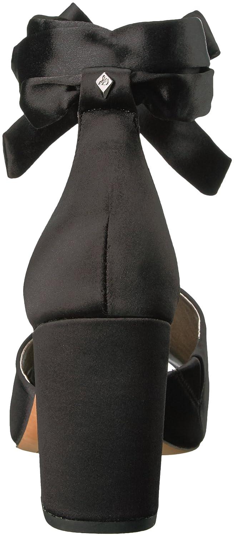 Sam Edelman Women's Odele Heeled Sandal B06XFN6FRX 5 B(M) US|Black Satin