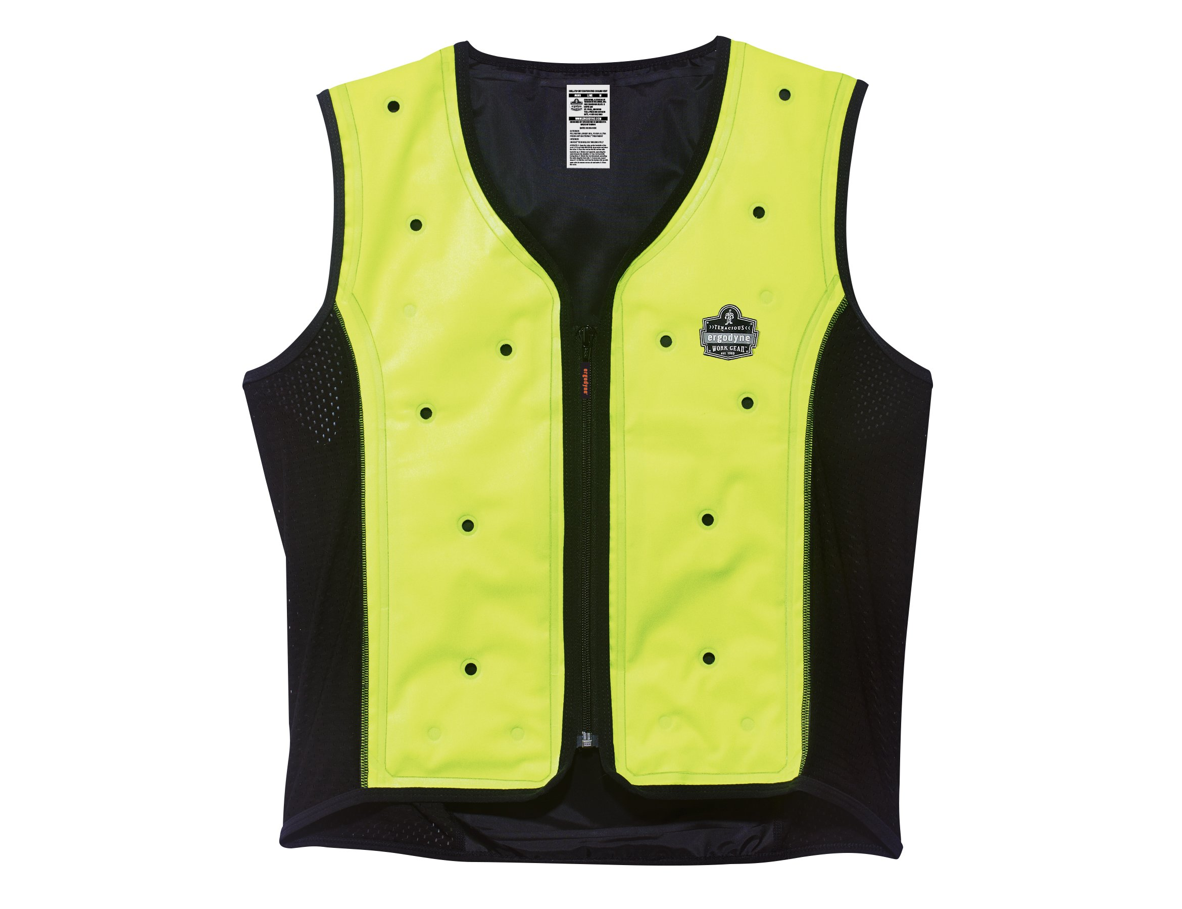 Ergodyne Chill Its 6685 Lime Dry Evaporative Cooling Vest, Large
