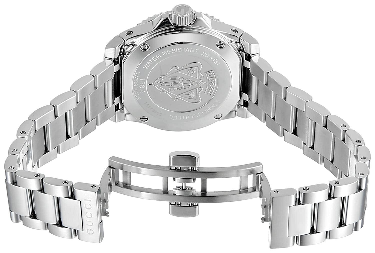 Amazon.com: Gucci Dive Swiss Quartz Silver-Tone Womens Watch(Model:YA136402): Watches