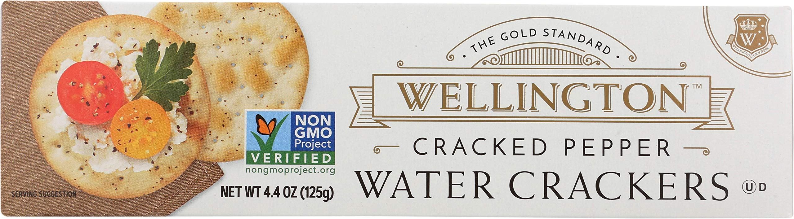 Wellington Cracked Pepper Crackers, 4.4-Ounces (Pack of 12) by Wellington