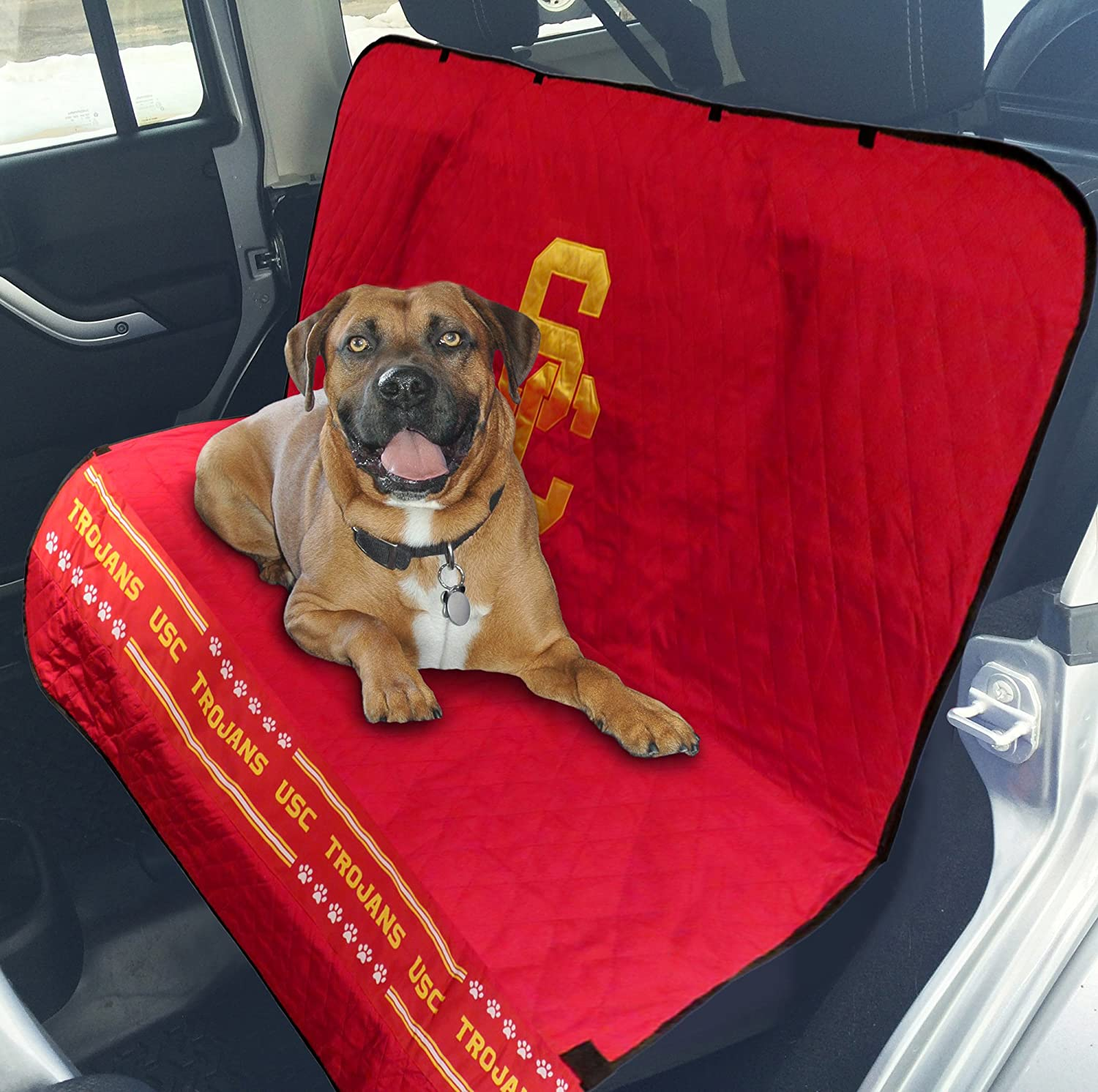 College CAR SEAT Cover. – Pet Car Seat Cover. – Dog Seat Cover. – Waterproof Seat Cover. – Football Car Seat. – Available in 23 College Teams . – Premium Pet Seat Cover