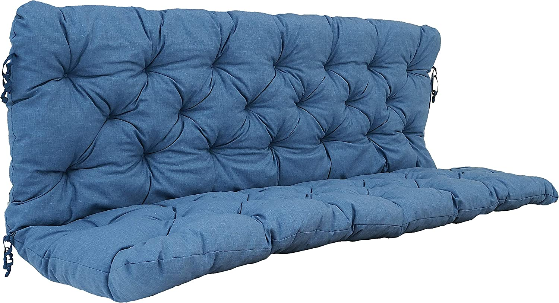 Ambientehome Sitzkissen und Rückenkissen Bank Hanko grau ca 100 x 98 x 8 cm