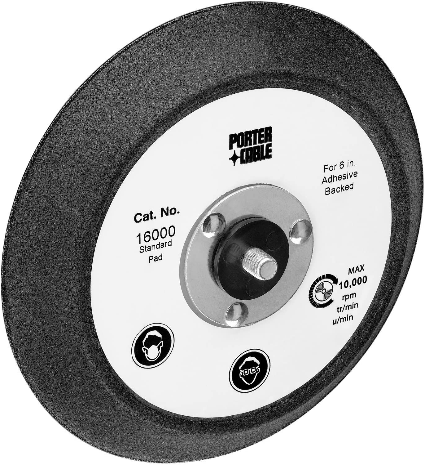 PORTER-CABLE 16000 6 In Standard Pad for 7336 and 97366 Random Orbit Sander - Power Sander Accessories -