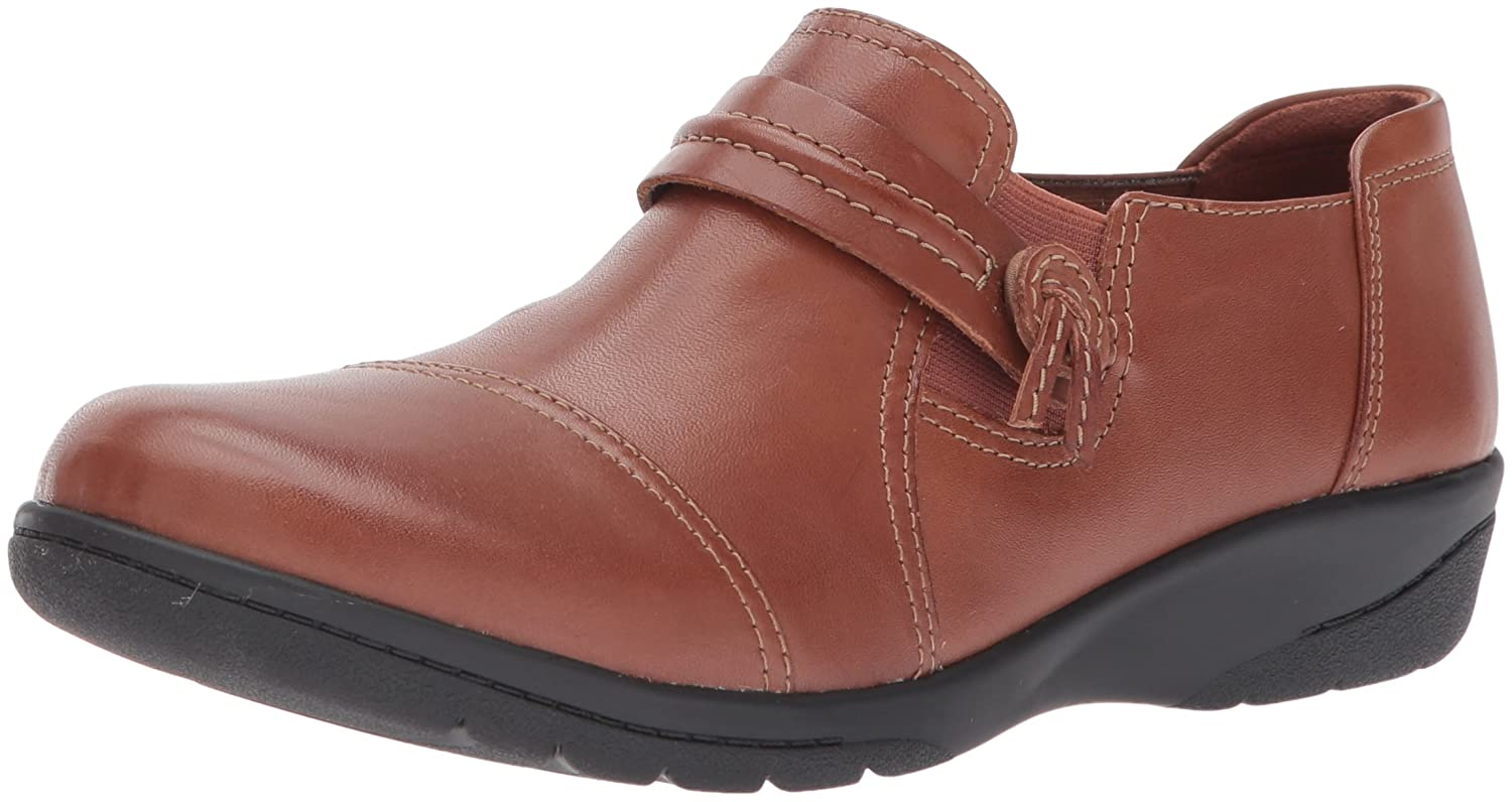 CLARKS Women's Cheyn Madi Loafer B01MSXHCW3 9.5 B(M) US|Dark Tan Leather