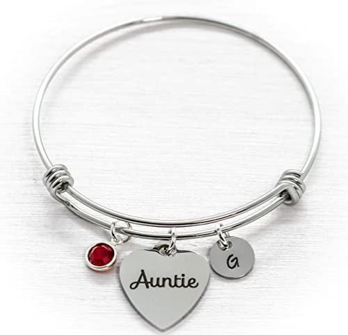 Aunt Gifts Aunt Jewelry Perfect Gift for Aunt Initial Bracelet Auntie Charm Bracelet Personalized Auntie Bracelet Auntie Bracelet
