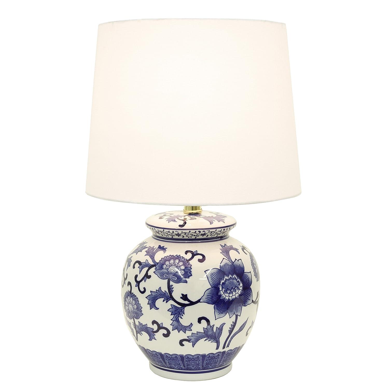 Decor Therapy Tl14119 Blue And White Ceramic Table Lamp Amazon Com