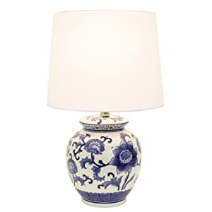 Décor Therapy TL14119 Blue and White Ceramic Table Lamp,