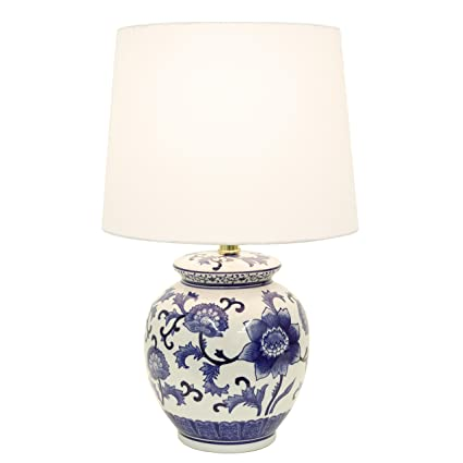 Décor Therapy Tl14119 Blue And White Ceramic Table Lamp Amazoncom