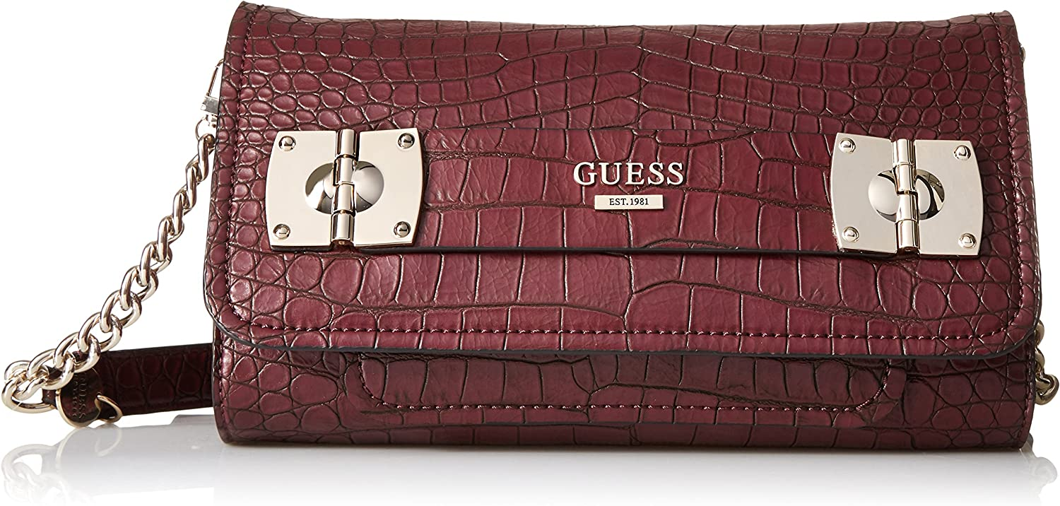 Guess Frankee Croco Crossbody Clutch: : Chaussures