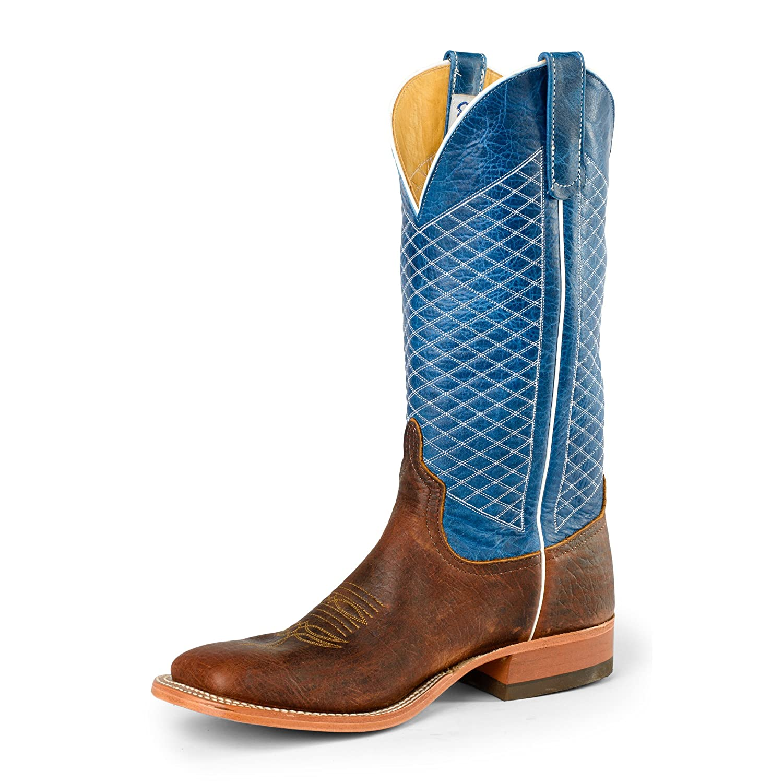 Anderson Bean S1116 Mens Square Toe Mike Tyson Bison Blue Lava Boots