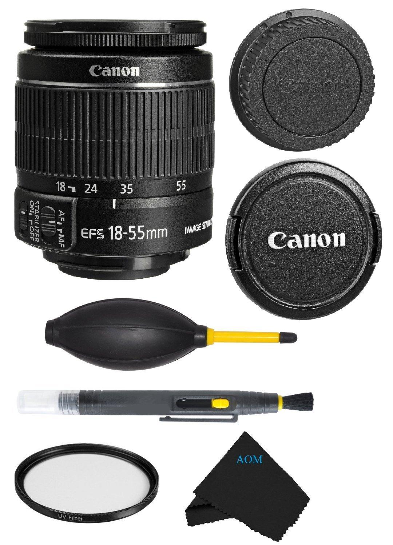 Canon EF-S 18-55mm f/3.5-5.6 IS II Lens Bundle For Canon SL1 T5i T5 T4i T3i T3 60D 70D T2i T1i Xsi XS DSLR Camera (International Version) No Warranty.