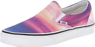 86d21d8501 Vans Classic Unisex Slip on Sunset Purple True White (2.5 Little Kid M