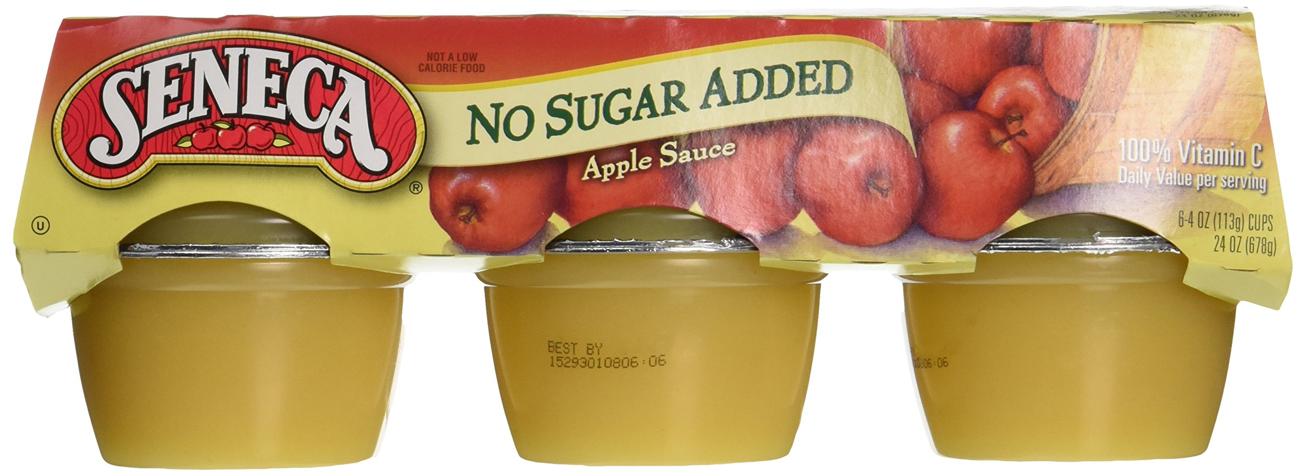 Seneca Apple Sauce, 100% Natural, No Sugar Added, 6 pk, 4 oz