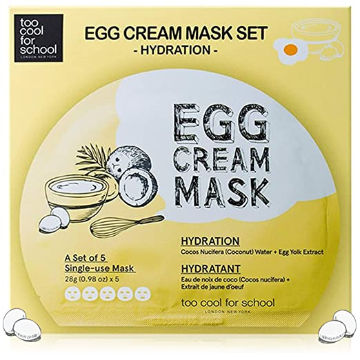 Too Cool for School Egg Cream Mask Set