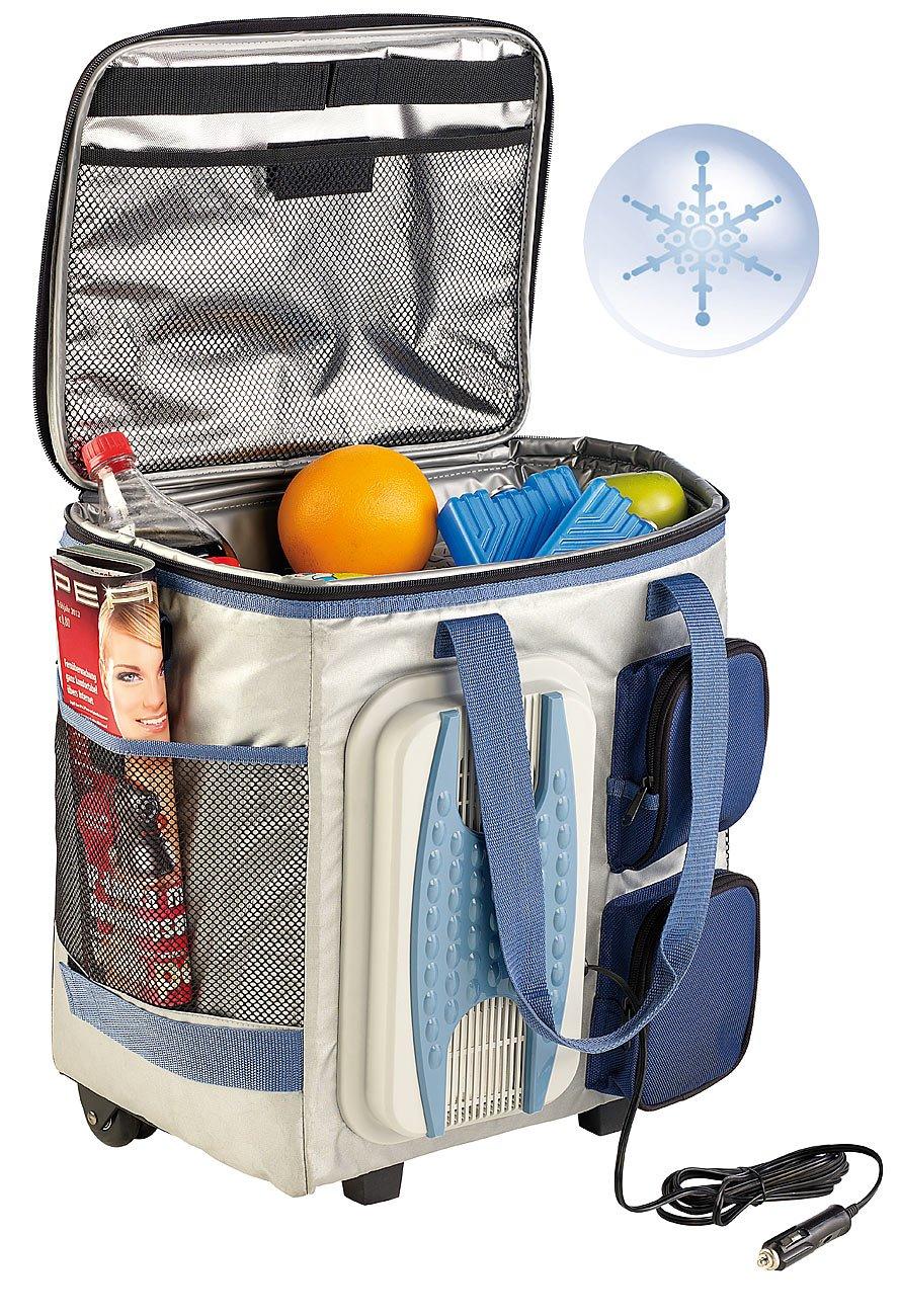 Xcase Kühltasche zum Ziehen: Thermoelektrische Kühltasche mit Trolley-Funktion, 40 Liter, 12 Volt (Kühltrolley)