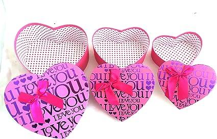 Cajas San Valentín Vacías Grandes Regalos Lazos Corazón (ROSA I ...