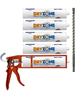 Diy damp proof dpc injection cream 380 kit amazon diy tools dryzone damp proofing kit 5 x 310ml dpc injection cream cox mastic gun solutioingenieria Image collections