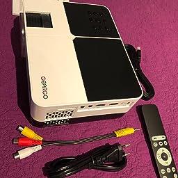 Proyector Portátil, GEARGO Mini Proyector Full HD 1080P 2800 ...