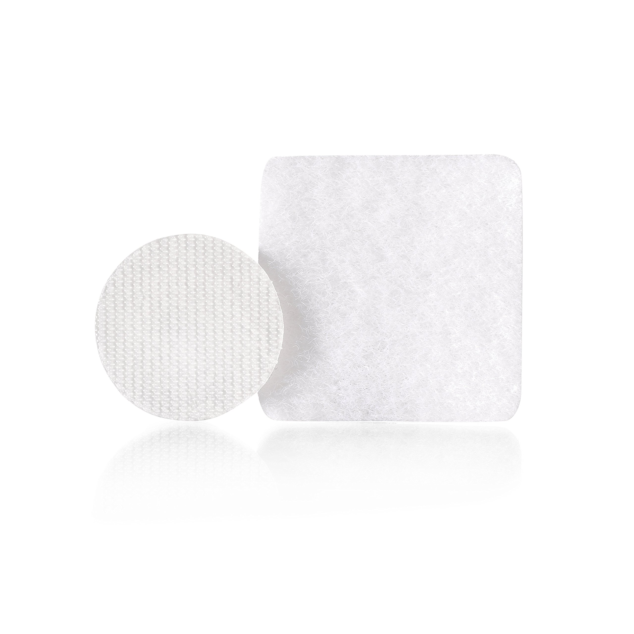 VELCRO Brand - Thin Hanging Strips: Adhesive that removes cleanly - 7/8'' Coins / 1.25'' Squares, 36 Sets, 1/4 lb - White