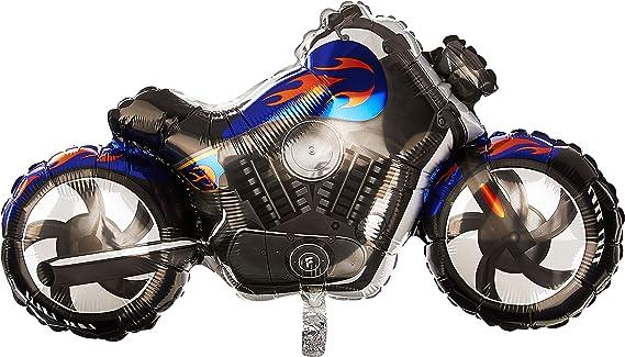 Black Custom Motorbike Supershape Foil Balloon