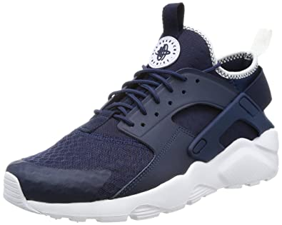 NIKE AIR Huarache Run Ultra, Baskets Homme, (Bleu Nuit Marine/Blanc/