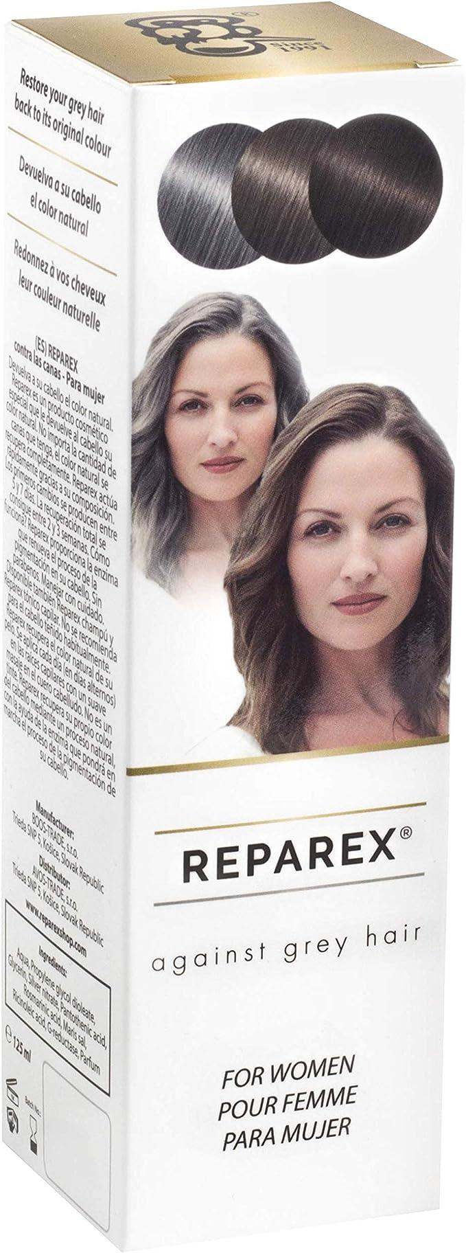 Reparex contra canas - Tratamiento de las raíces y el cabello de color gris natural para mujeres - Mejor que el champú o tinte de pelo - No más ...