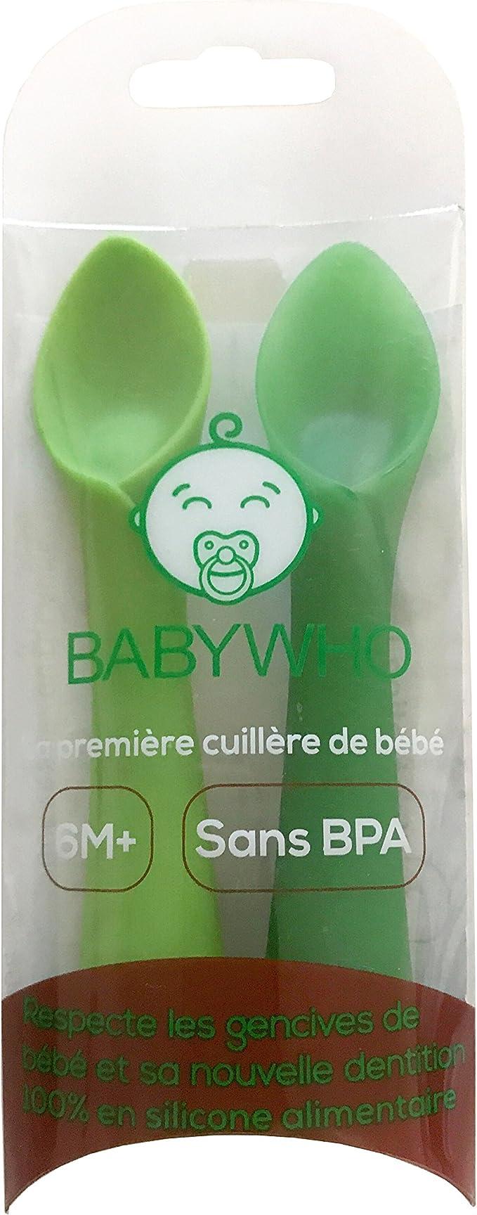 BabyWho 2 Cucharas de Silicone de Aprendizaje para Beb/és flexibles