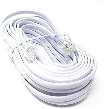 ADSL Banda Acha M/ódem Cable RJ11 A RJ11 Blanco 1 m Bajo Cable