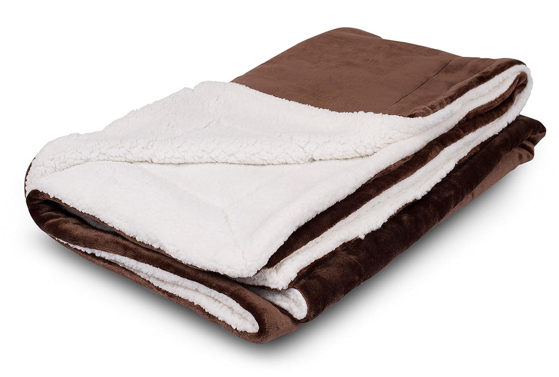 Internet's Best Plush Reversible Throw Blankets (navy) Birdrock Home 7058