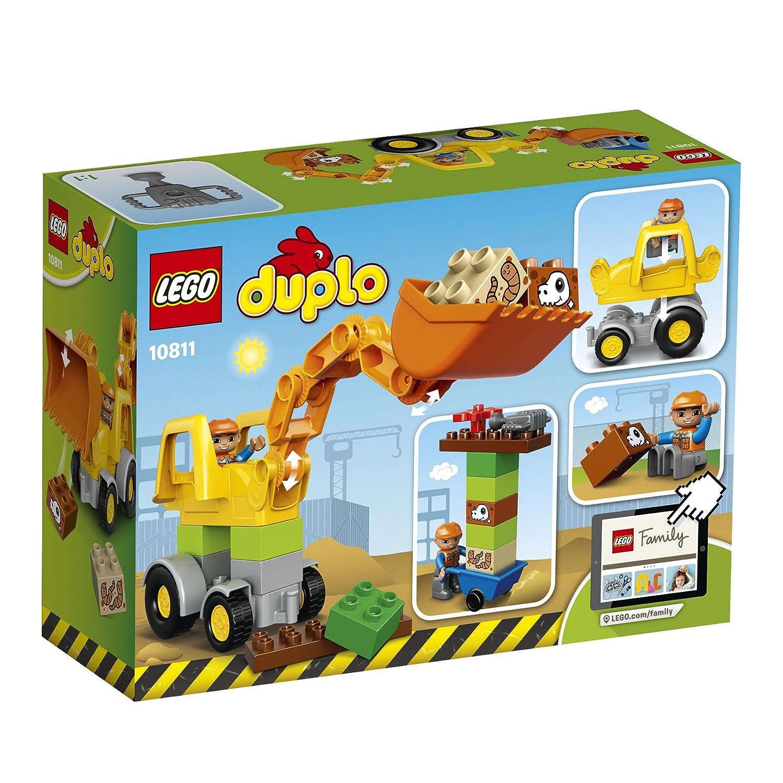 lego 10811 duplo town backhoe loader construction set multi