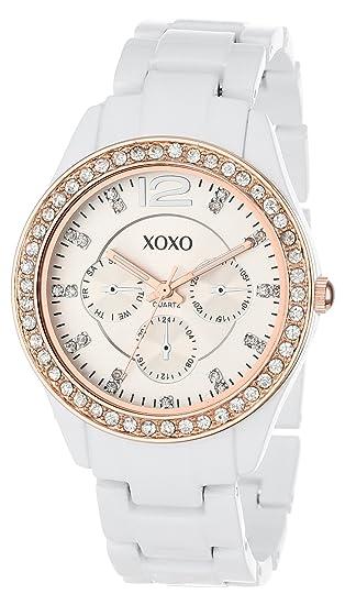 XOXO XO5633 - Reloj de Pulsera para Mujer, Color Blanco