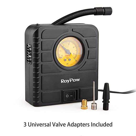 Roypow I80 12V Compresor eléctrico para coche & Inflador de ruedas & Inflador para motocicletas, bicicletas, balones y todo tipo de objetos hinchables: ...